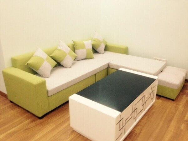 Ghế sofa góc màu xanh mạ – SFHP17